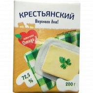 Спред растительно-сливочный «Крестьянский» 72,5%, 200 г.