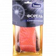 Форель «7 морей» слабосоленая, филе-кусок 300 г.