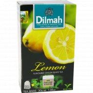 Чай черный «Dilmah» Лимон, 20 пакетиков по 1.5 г, 30 г.