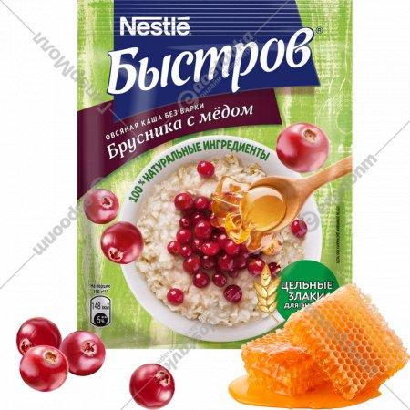 Каша овсяная «Быстров» брусника с мёдом, 40 г.