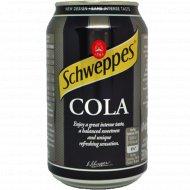 Напиток сильногазированный «Schweppes Cola» 0.33 л.