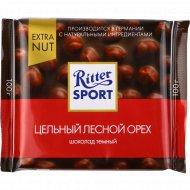 Шоколад «Ritter Sport» с цельным лесным орехом, 100 г.