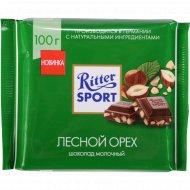 Шоколад «Ritter Sport» лесной орех, 100 г.