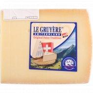Сыр твердый «Грюйер» 49%, 1 кг, фасовка 0.15-0.25 кг