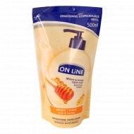 Жидкое мыло «On Line» молоко и мёд, 500 мл.