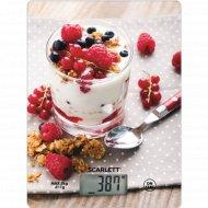 Кухонные весы «Scarlett» SC-KS57P22, готовый завтрак.