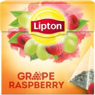 Чай черный «Lipton» grape raspberry 20 пакетиков.