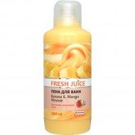 Пена для ванн «Fresh Juice» банан - манго мусс, 1 л.