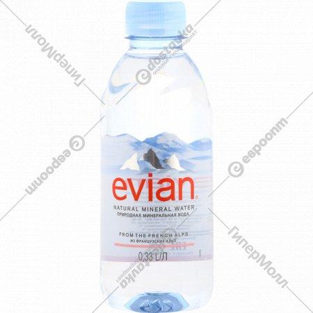 Вода минеральная «Evian» негазированная, 0.33 л.
