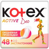Прокладки женские ежедневные «Kotex» Active Deo, 48 шт.
