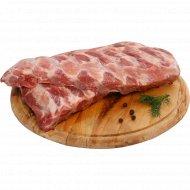 Реберные пластины свиные, охлажденные, 1 кг., фасовка 0.9-1.3 кг