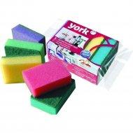 Губка для мытья посуды «York» колор люкс, 7 шт.