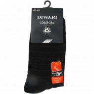 Носки мужские «DiWaRi Comfort» черные, размер 27.