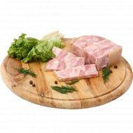 Продукт из свинины «Медвежье ухо» копчено-вареный, 1 кг., фасовка 0.2-0.4 кг