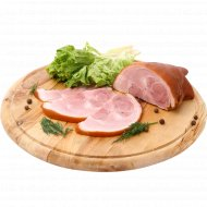 Продукт из свинины «Рулька деликатесная» копчено-вареный, 1 кг., фасовка 0.3-0.5 кг