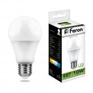 Лампа светодиодная «Feron» 230 V, Е27, 4000 K, LB-92, 10W.