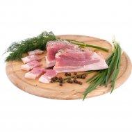 Грудинка свиная, охлажденная, 1 кг, фасовка 0.4-0.8 кг