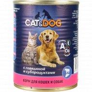 Корм «Cat & Dog» с говядиной и субпродуктами, 350 г.