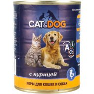 Корм для кошек и собак «Cat & Dog» с курицей, 350 г.