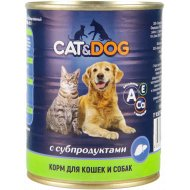 Корм для кошек и собак «Cat & Dog» с субпродуктами, 350 г.