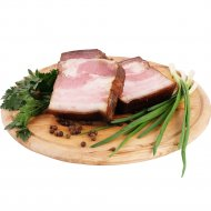 Грудинка копчено-вареная «Деревенская» из свинины, 1 кг, фасовка 0.45-0.55 кг