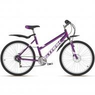 Велосипед «Stark» Luna 26.2 D 2021, 16, фиолетовый/серебристый