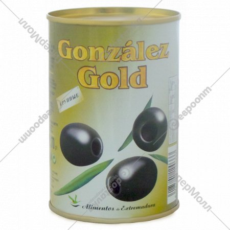 Маслины крупные «Gonzalez Gold» без косточек, 425 мл.