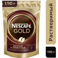 Кофе растворимый «Nescafe» Gold, с добавлением молотого, 190 г.