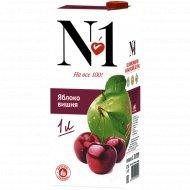 Нектар «№1» яблочно-вишневый, 1 л.