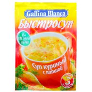 Быстросуп «Gallina Blanca» куриный с лапшой, 15 г.