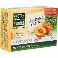 Мыло «Чистая линия» персик, 90 г.