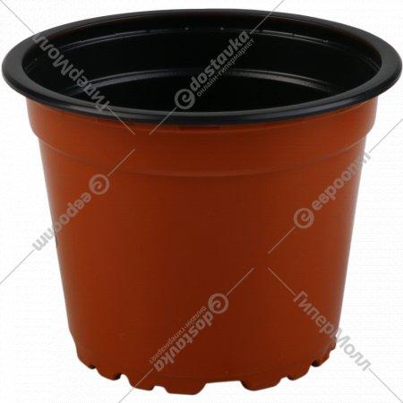 Горшок VTG 9 terracotta/ black, диаметр 9 см.