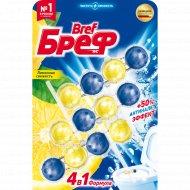 Туалетный блок «Bref» Сила-Актив, Лимонная свежесть, 3x50 г
