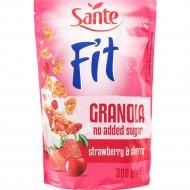 Хлопья «Sante Granola Fit» с клубникой и малиной, 300 г.