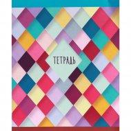 Тетрадь «Цветочные ромбы» клетка, 96 листов.