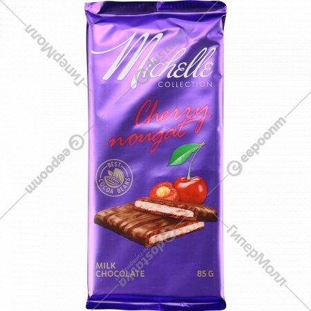 Шоколад молочный «Michelle» с вишневой нугой, 85 г.