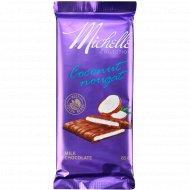 Шоколад молочный «Michelle» с кокосовой нугой, 85 г.