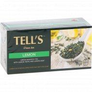 Чай зеленый «Tell's» со вкусом лимона и цедрой лимона, 25 пакетиков.