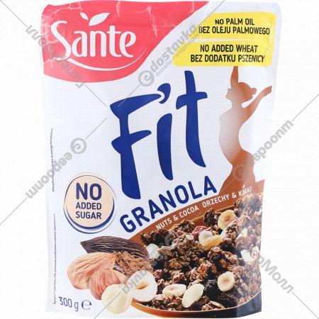 Хлопья «Sante Granola Fit» с орехами и какао, 300 г.