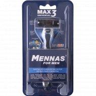 Мужская бритва «Mennas» max 3, со сменной кассетой.