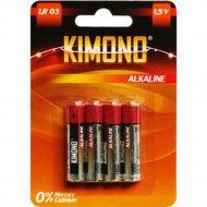 Батарейка «Kimono» Alk,LR03 BL4 ААА, Micro