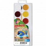 Краски акварельные «Zoo» 12 цветов, с кистью.