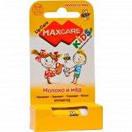 Бальзам для губ «Maxcare Kids» молоко и мед, 4.7 г.