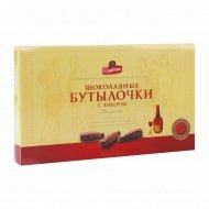 Конфеты «Шоколадные бутылочки» с ликером, 168 г.