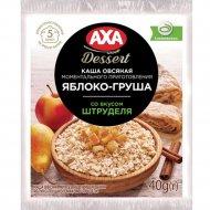 Каша овсяная «Axa» яблоко-грушевая со вкусом штруделя, 40 г.