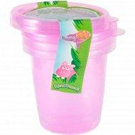 Комплект контейнеров «Пластишка» для продуктов детских, 0.2 л х 3 шт.