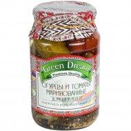 Огурцы и томаты маринованные «Green Dream» домашний рецепт, 950 г.