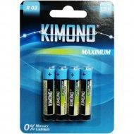 Батарейка «Kimono» R03 BL4 ААА, Micrо