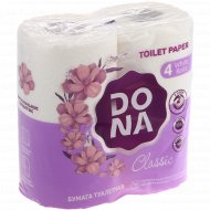 Бумага туалетная «Dona» Classic, двухслойная, 4 рулона.