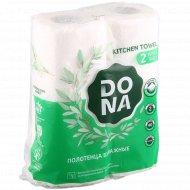 Бумажные полотенца «Dona» двухслойные, 2 шт.